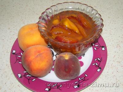 Прозрачное варенье из персиков