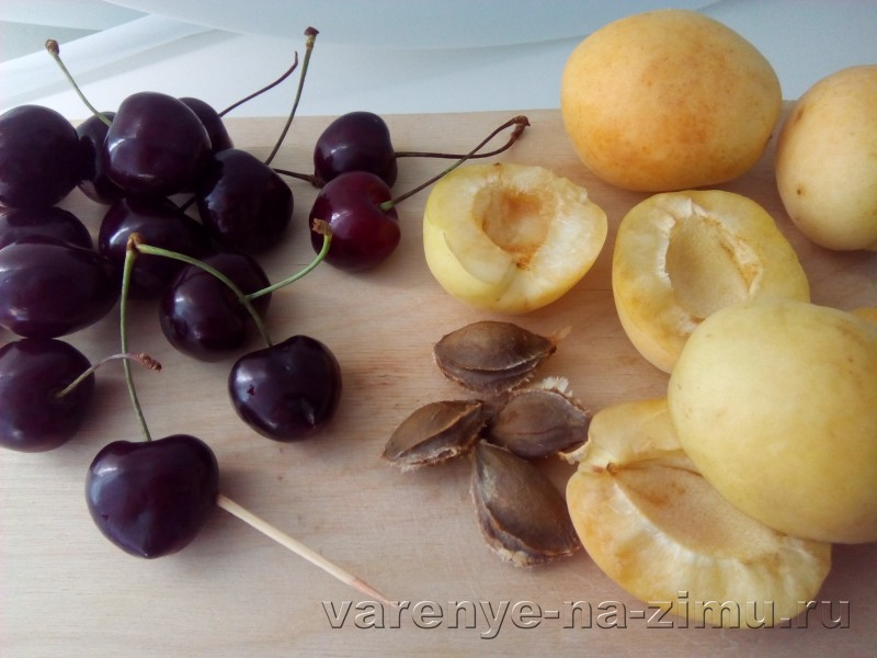 Абрикосовое варенье с черешней без варки: фото 3