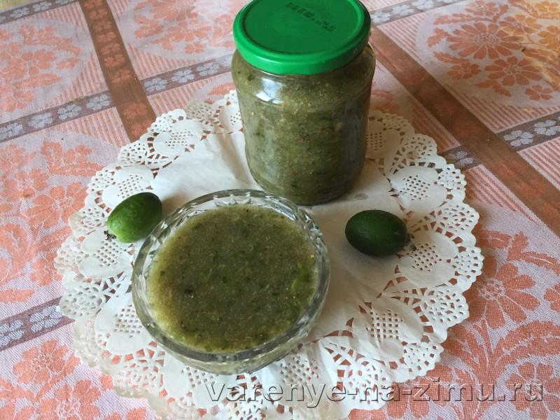 Фейхоа перетертая с сахаром рецепт на зиму без варки: фото 9