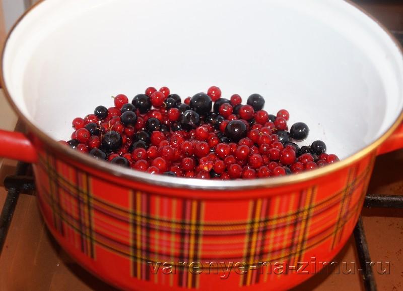 Желе из красной и черной смородины: фото 2
