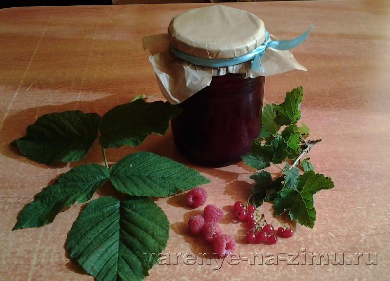 Желе из малины и красной смородины
