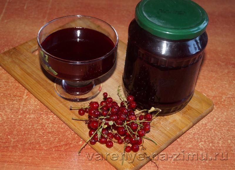 Желе из сока красной смородины