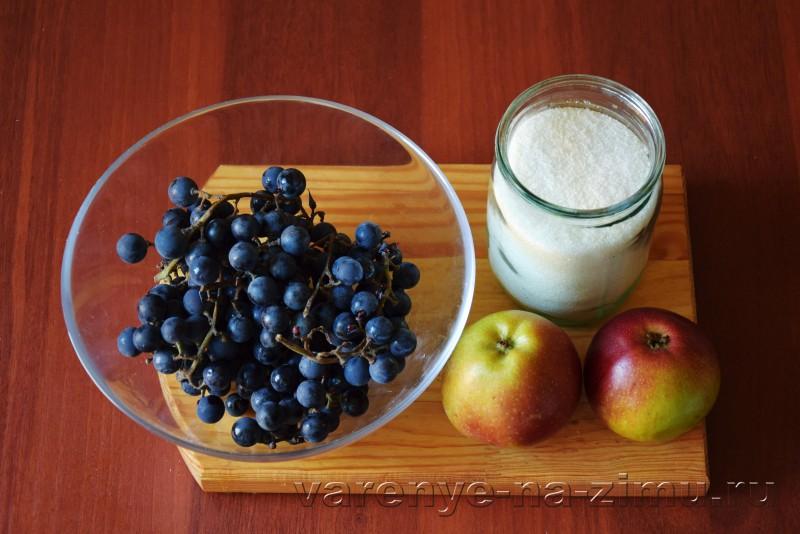 Компот из винограда и яблок на зиму без стерелизации: фото 1