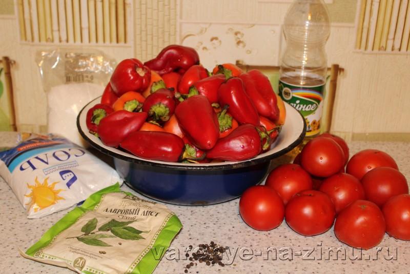Лече без уксуса на зиму с маслом из пертса и помидоров: фото 1