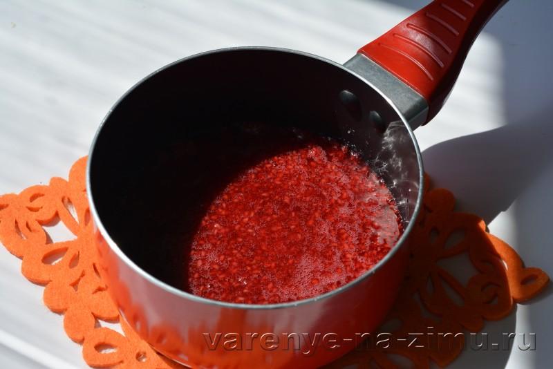 Малиновый джем рецепт на зиму без косточек: фото 8