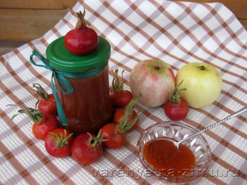 Повидло из яблок и шиповника: фото 7