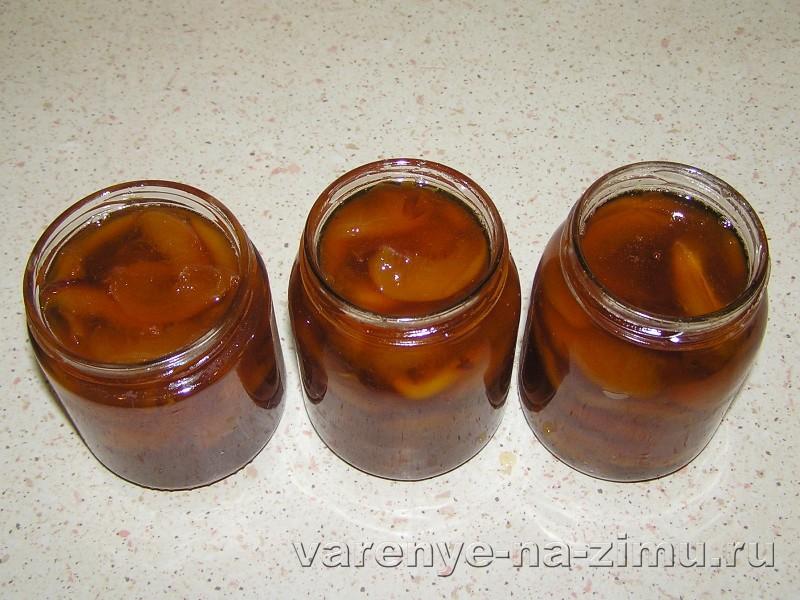 Прозрачное персиковое варенье: фото 5