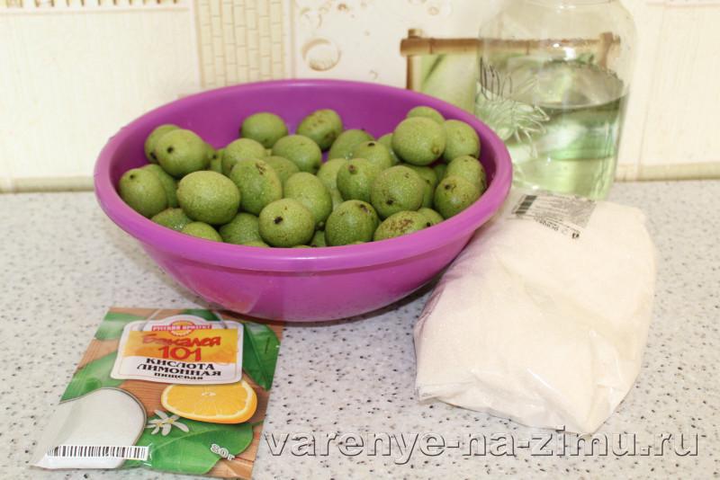 Варене из грецких орехов зелёных полза рецепт с кожурой: фото 1