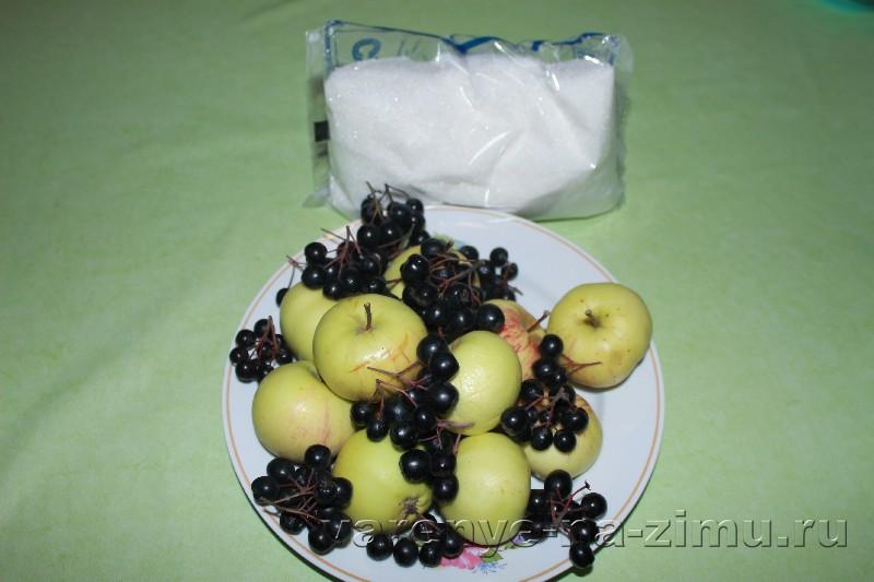 Варенье из черноплодной рябины с яблоками: фото 1