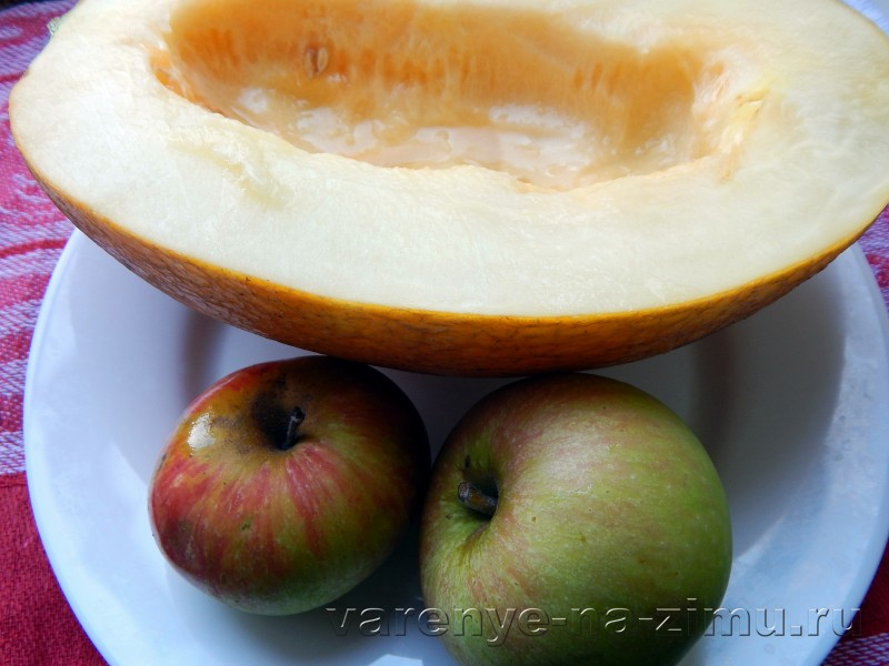 Варенье из дыны и яблок в мультиварке: фото 1