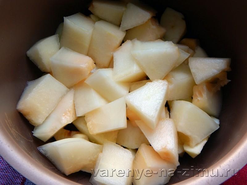 Варенье из дыны и яблок в мультиварке: фото 4