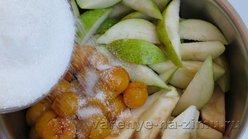 Варенье из груш и яблок с алычей: фото 3