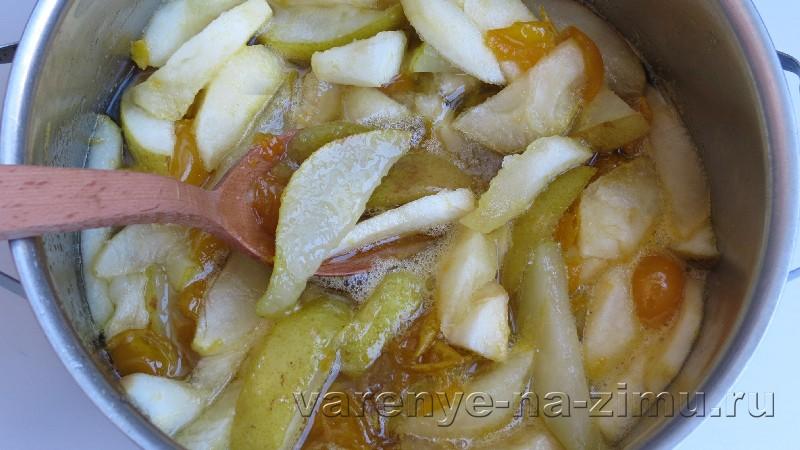 Варенье из груш и яблок с алычей: фото 4