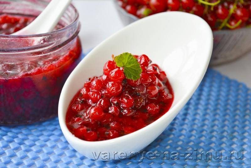 Варенье из красной смородины на зиму: фото 5 минутка