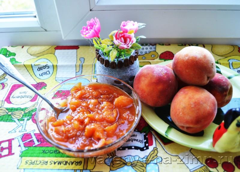 Варенье из персиков дольками «Пятиминутка» без воды с лимоном ...