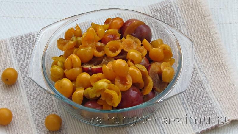 Варенье из сливы и алычи в мультиварке: фото 1