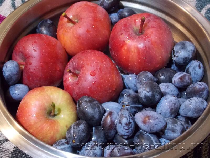 Варенье из яблок и слив: фото 1