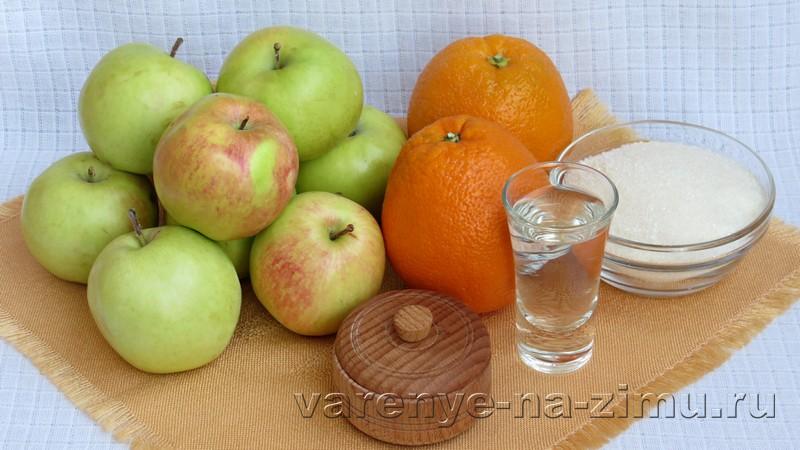 Варенье из яблок с апельсинами: фото 1