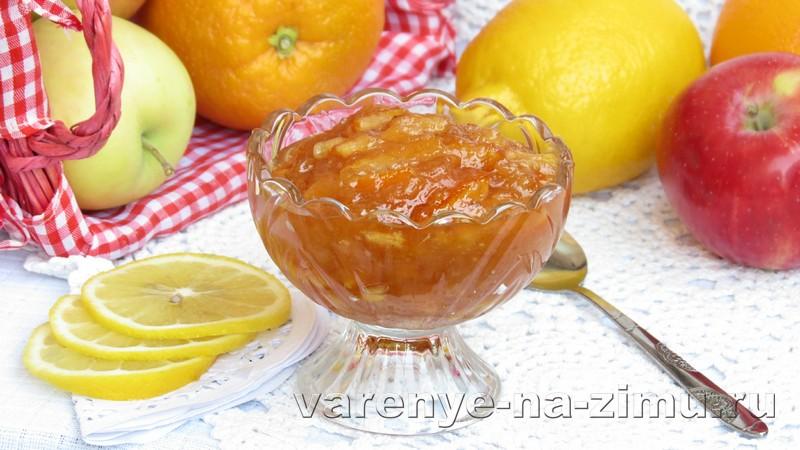 Варенье из яблок с апельсинами: фото 7