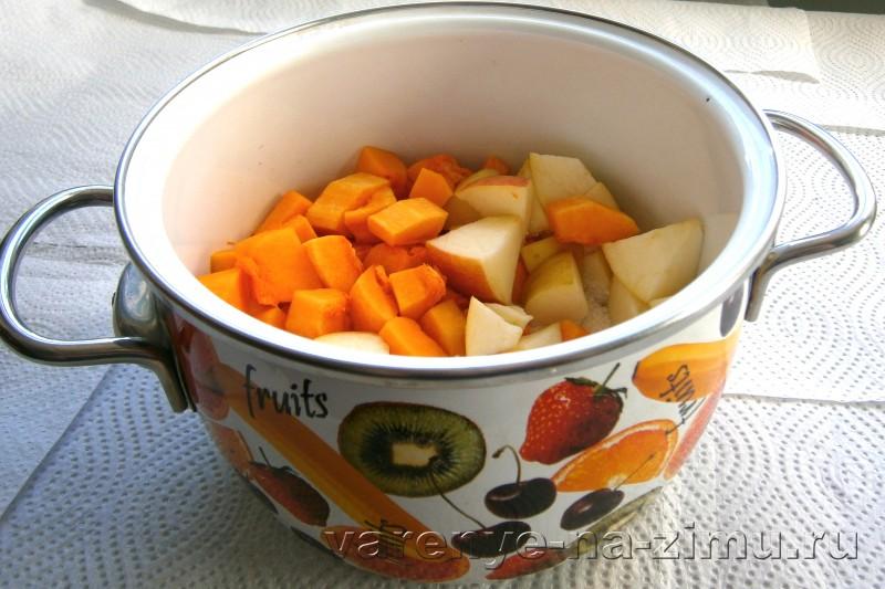Варенье из яблок с апельсином и тыквой: фото 6