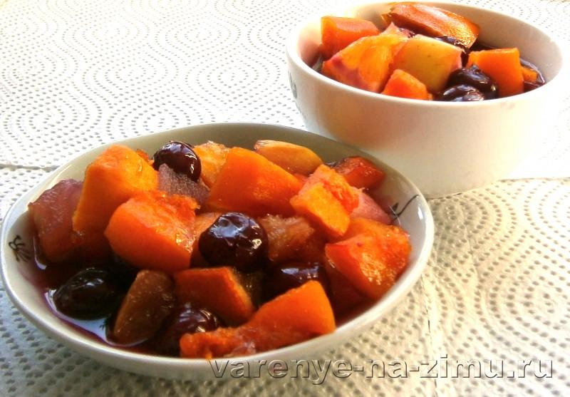 Варенье из яблок с апельсином и тыквой