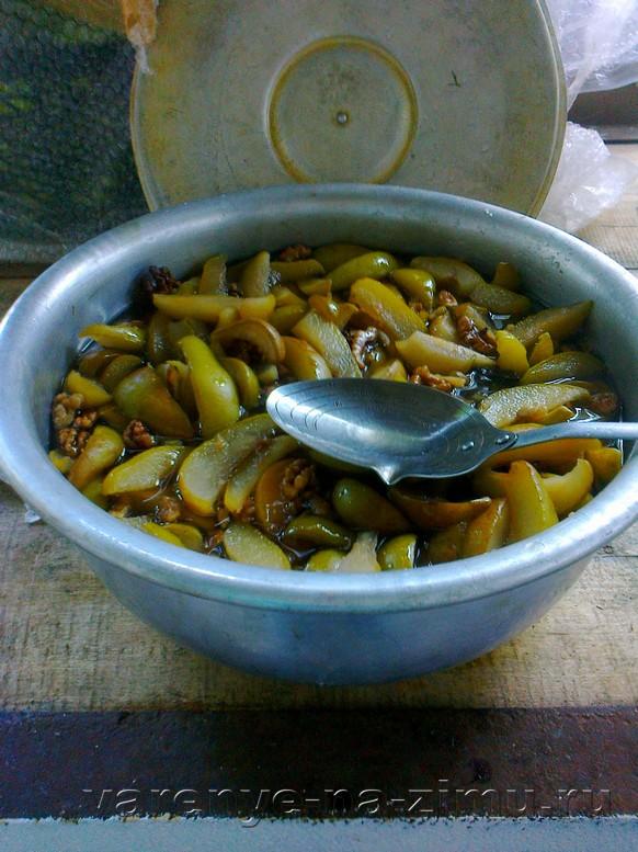 Варенье из зелёных груш: фото 8