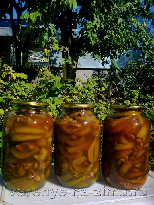 Варенье из зелёных груш